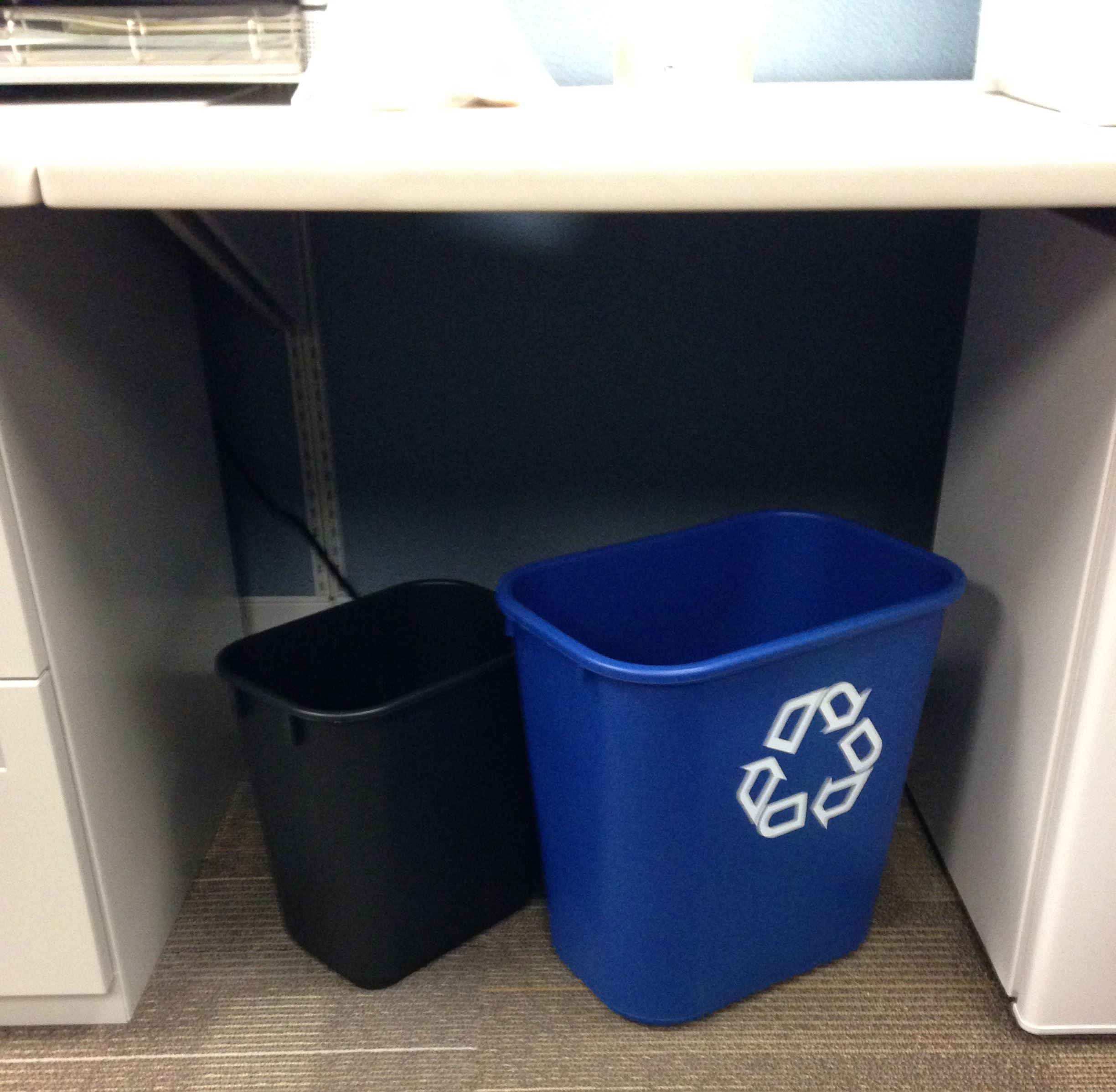 Deskside bins